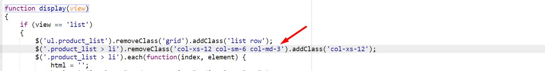 cambio de código javascript