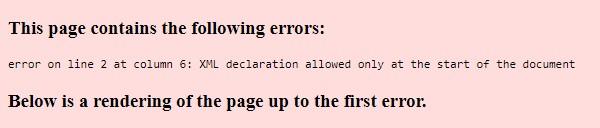 error sitemap