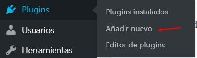 Añadir nuevo plugin WordPress